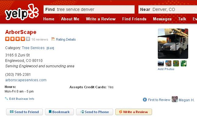 ArborScape Yelp Reviews Pic